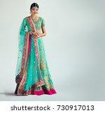 portrait of beautiful indian... | Shutterstock . vector #730917013