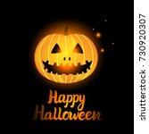 vector happy halloween. jack o...   Shutterstock .eps vector #730920307