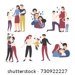 happy loving family. mother ... | Shutterstock .eps vector #730922227