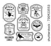 Halloween Bottle Labels  ...
