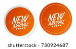 new arrival stickers | Shutterstock .eps vector #730924687