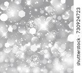 glittery lights silver abstract ... | Shutterstock . vector #730924723