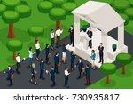 qualitative isometry  3d...   Shutterstock .eps vector #730935817