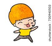 cartoon rude man | Shutterstock .eps vector #730940503
