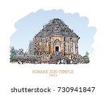 vector illustration of konark...   Shutterstock .eps vector #730941847