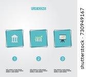 flat icons bar diagram  bank ... | Shutterstock .eps vector #730949167