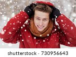 people  christmas  winter and... | Shutterstock . vector #730956643