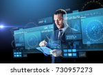 business  people and future... | Shutterstock . vector #730957273