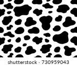 texture white cow black spot... | Shutterstock .eps vector #730959043