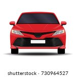 realistic car. sedan front view. | Shutterstock .eps vector #730964527