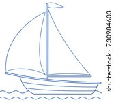 illustration of the sailing... | Shutterstock .eps vector #730984603
