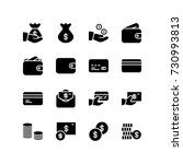 icon set of money and finance | Shutterstock .eps vector #730993813