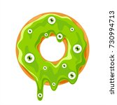 halloween donut with green... | Shutterstock .eps vector #730994713