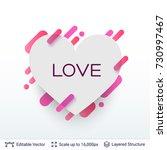 white badge heart shaped...   Shutterstock .eps vector #730997467