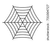 halloween spiderweb boo text... | Shutterstock .eps vector #731004727