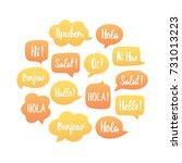yellow and orange speech... | Shutterstock .eps vector #731013223