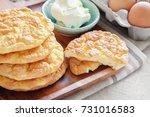 cloud bread  oopsie bread  ...   Shutterstock . vector #731016583