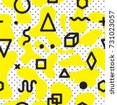 color seamless pattern modern...   Shutterstock .eps vector #731023057