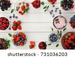 healthy breakfast background.... | Shutterstock . vector #731036203