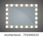 mirror in frame with light... | Shutterstock .eps vector #731040223