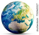 planet earth   europe. elements ... | Shutterstock . vector #731063317