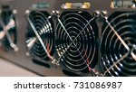 farm for mining crypto currency ... | Shutterstock . vector #731086987