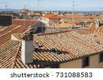 detail of the roofs constructed ... | Shutterstock . vector #731088583