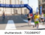 marathon in the city theme... | Shutterstock . vector #731088907