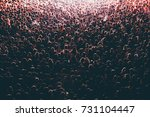 colorful crowd of people of a... | Shutterstock . vector #731104447