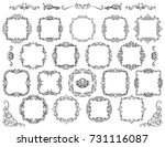big set of vintage styled... | Shutterstock .eps vector #731116087
