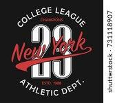 new york typography for number... | Shutterstock .eps vector #731118907