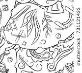 seamless mehndi vector pattern. ... | Shutterstock .eps vector #731121433