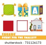 forms for the smallest. square... | Shutterstock .eps vector #731126173