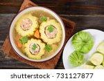 thai food bitter gourd soup... | Shutterstock . vector #731127877