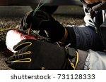 assassin installing plastic...   Shutterstock . vector #731128333