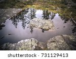 Small photo of Water spring where once used to be a glacier centuries ago. (Lapland).