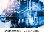 double exposure businessman and ... | Shutterstock . vector #731148883