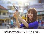 long xuyen city  an giang... | Shutterstock . vector #731151703