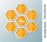 vector abstract 3d paper... | Shutterstock .eps vector #731155153