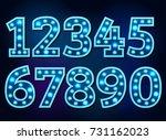 light font bulb text alphabet... | Shutterstock .eps vector #731162023