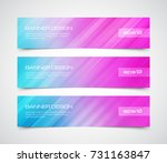 set of modern vector banners... | Shutterstock .eps vector #731163847