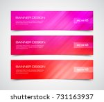set of modern vector banners... | Shutterstock .eps vector #731163937