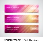 set of modern vector banners... | Shutterstock .eps vector #731163967