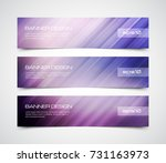 set of modern vector banners... | Shutterstock .eps vector #731163973