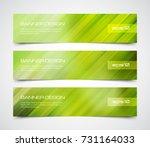 set of modern vector banners... | Shutterstock .eps vector #731164033