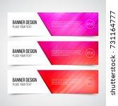 set of modern vector banners... | Shutterstock .eps vector #731164777