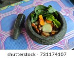 malay traditional herbal... | Shutterstock . vector #731174107