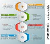 vector abstract 3d paper... | Shutterstock .eps vector #731179237