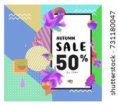 autumn sale memphis style web... | Shutterstock .eps vector #731180047