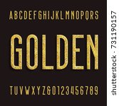 golden alphabet font. metallic... | Shutterstock .eps vector #731190157